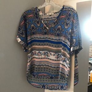 Blue and Pink Wishful Park Top
